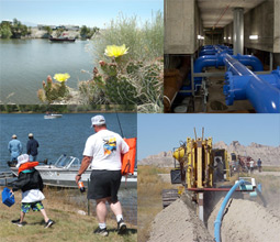 Photo montage of recreation, rural water projects and CAST for kids event images.
