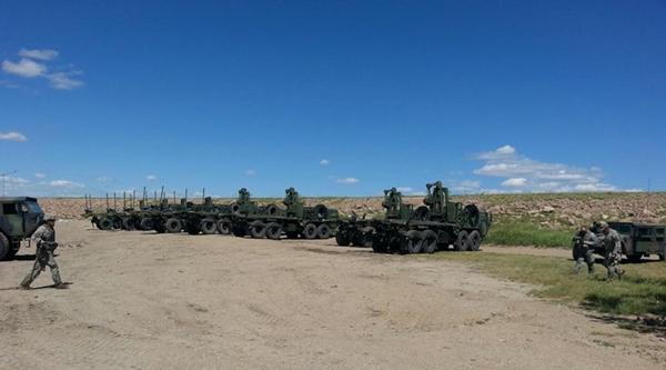 The SDARNG's 189th Medivac unit participated in Convoy Lane Training at Belle Fourche Reservoir as part of leadup training for the Golden Coyote Exercise.
