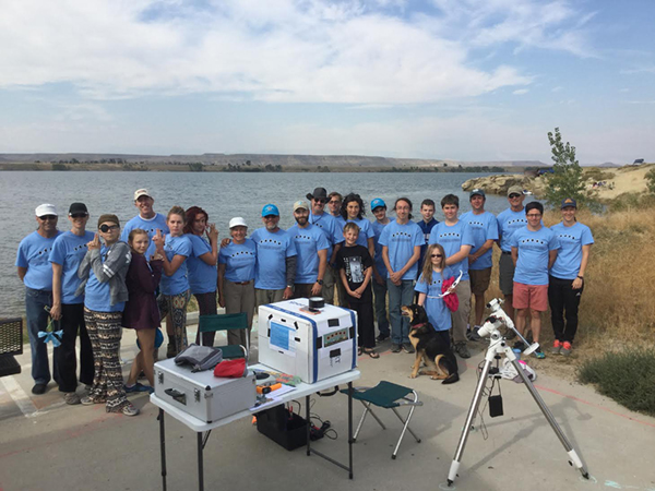 Los Alamos School group at Pilot Butte Reservoir, which is 10 miles below the Wind River Diversion Dam.