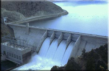 Canyon Ferry Dam and Spillway