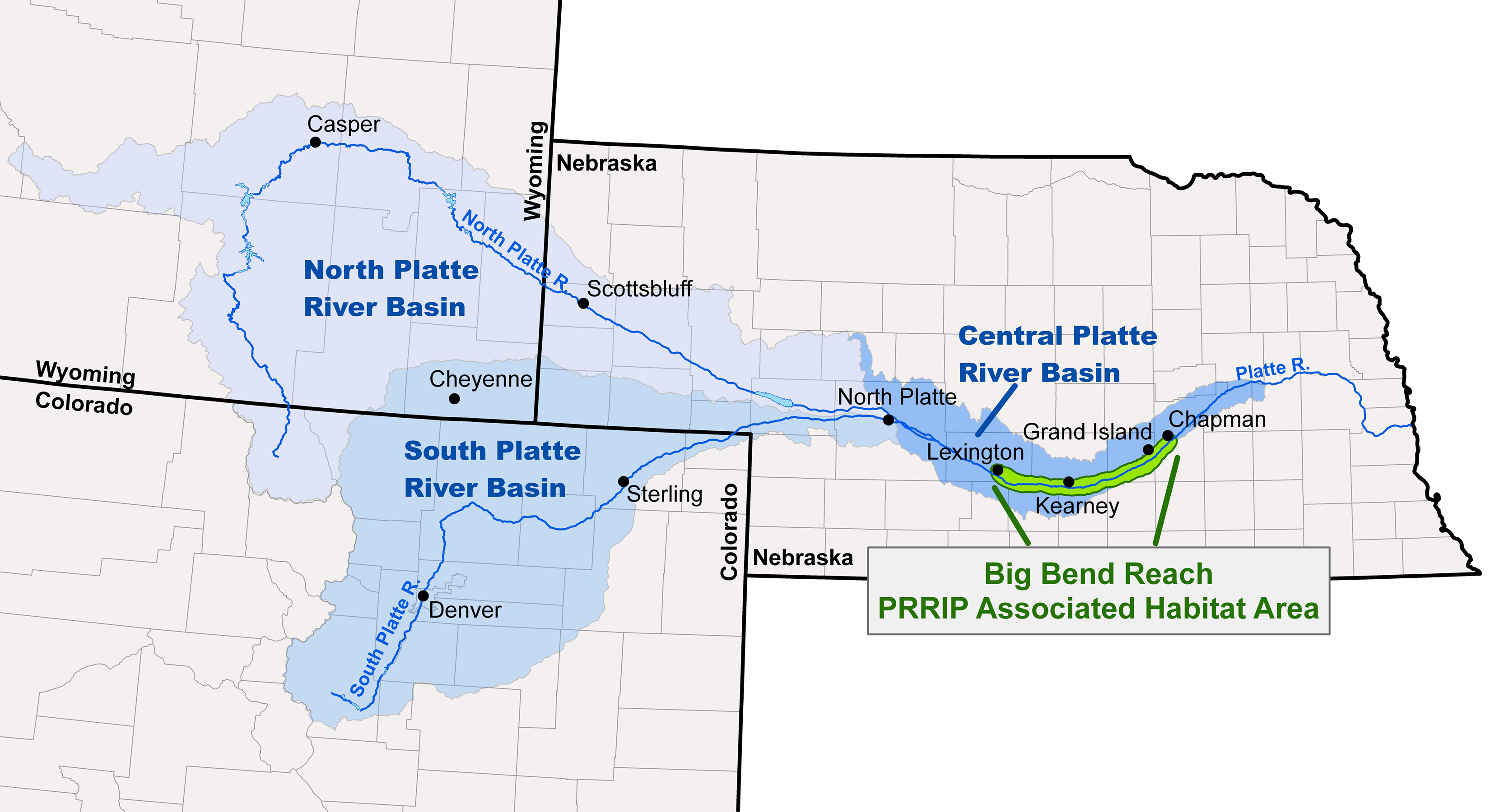 Platte River Recovery Implementation Program Proposed First - Nebraska rivers map