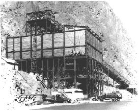 Photo of one of the concrete batch plants.