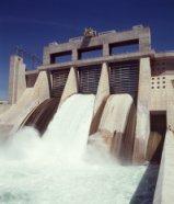 Photo - Davis Dam spillway.