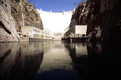 Photo - View of Hoover Dam from downstream