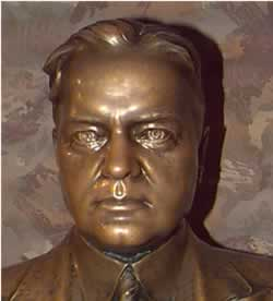 Bust of President Herbert Hoover. Click for a larger view.