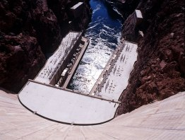 Photograph of the Hoover Dam powerplant.