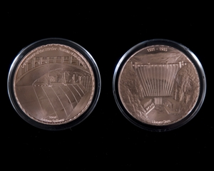 photo of Hoover Dam coin Arizonia Spillway