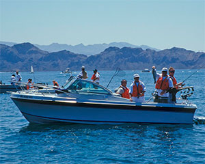 Fishing fun at Lake Mead.  Click for full size image.