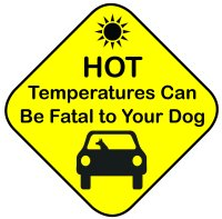 hot car sign