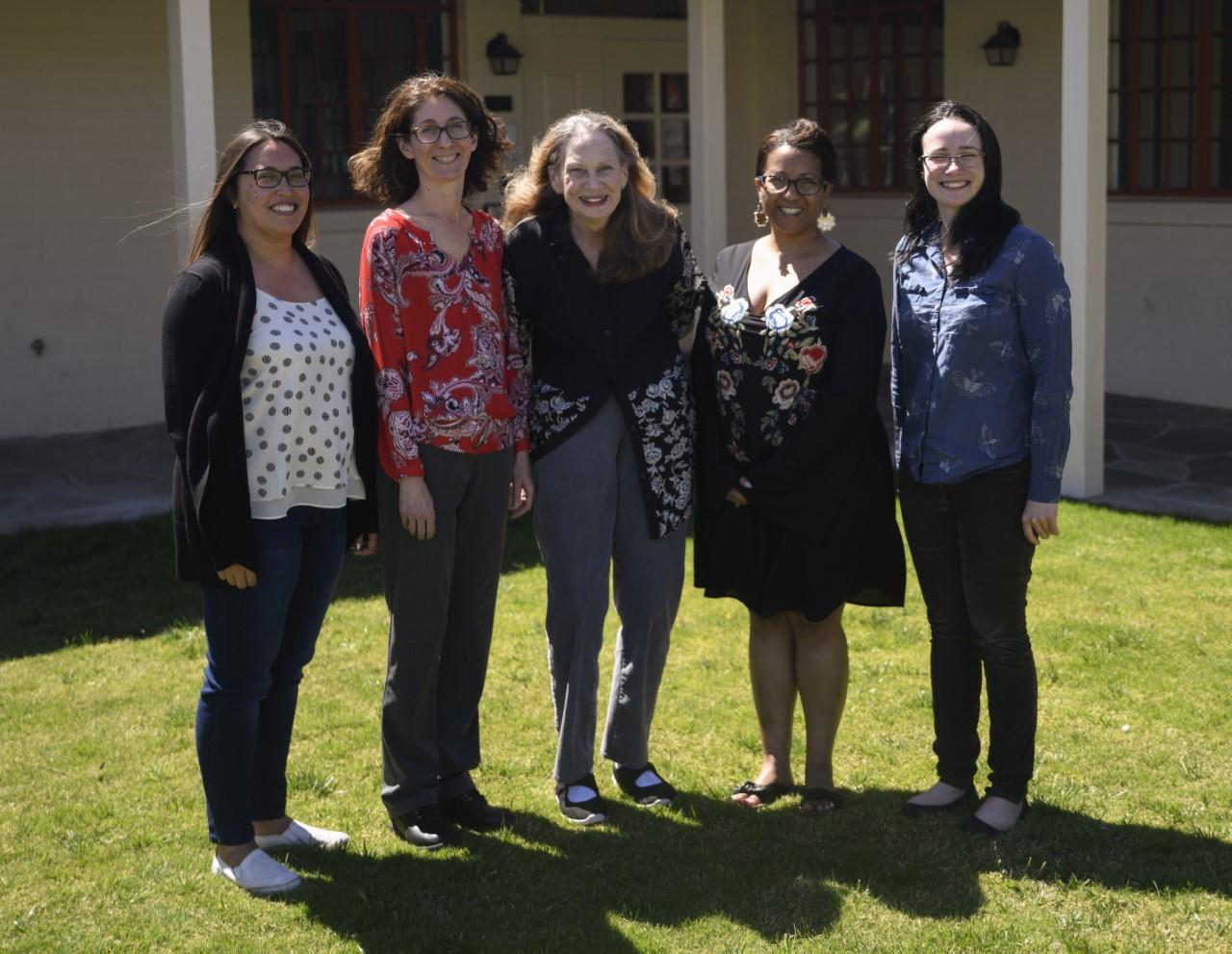 Federally Employed Women's officers include (L to R): Deanna Morell, Shana Tighi (Secretary,) Valerie Weisser (Treasurer), Yvette Scott-Butler (Former President) and Genevieve Allan (Current President).