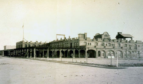 This 1914 photograph of the San Marcos Hotel in Chandler is one of numerous images by Lubken of the buildings, agriculture, canals, and places in the Salt River Valley.  For a period of time, Lubken had a small shop in Mesa were he sold postcards of his images. (Reclamation photograph)
