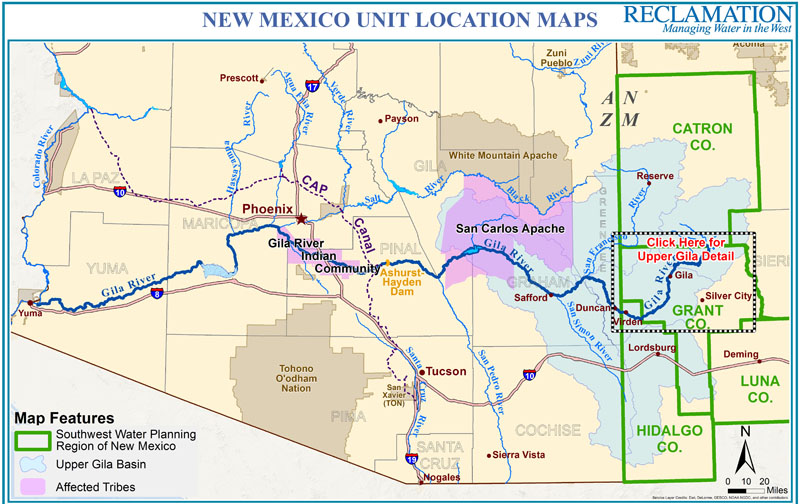 Map Of Colorado River In Arizona.New Mexico Unit Of The Central Arizona Project Phoenix Area Office