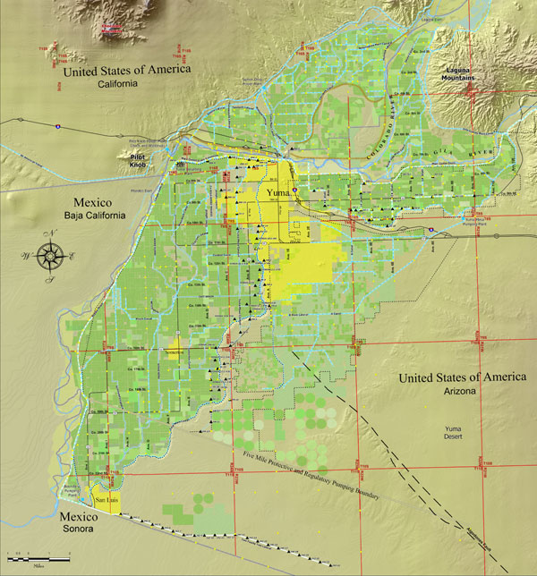 Yuma Area Well Fields Map