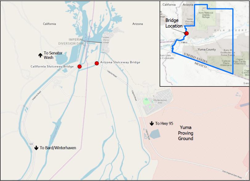 Map of FHWA Bridge Deck Work Zones
