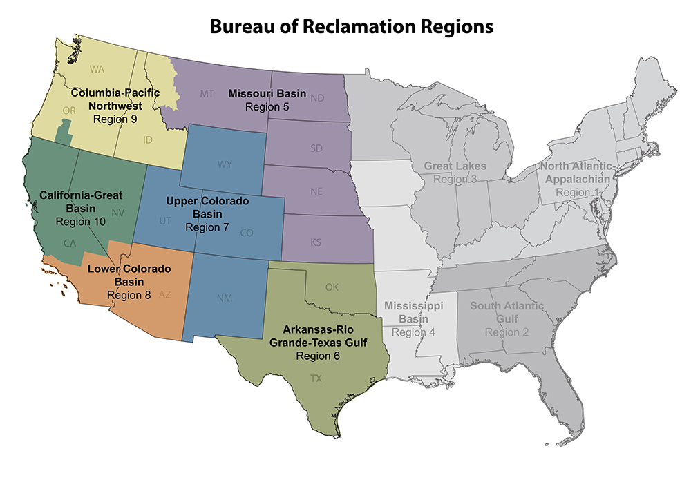 Map of Reclamation Regions