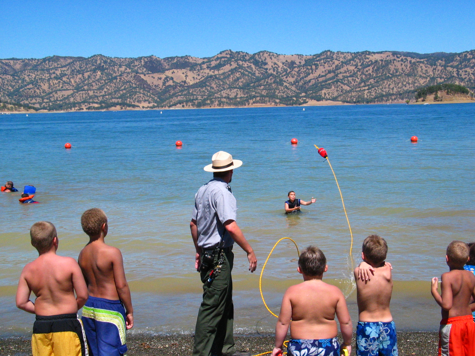 Photograph Of Children In The Water Getting Life Saving Tips From A Ranger Click For