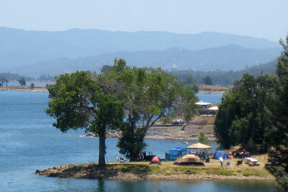 Putah Creek Recreation area at Lake Berryessa