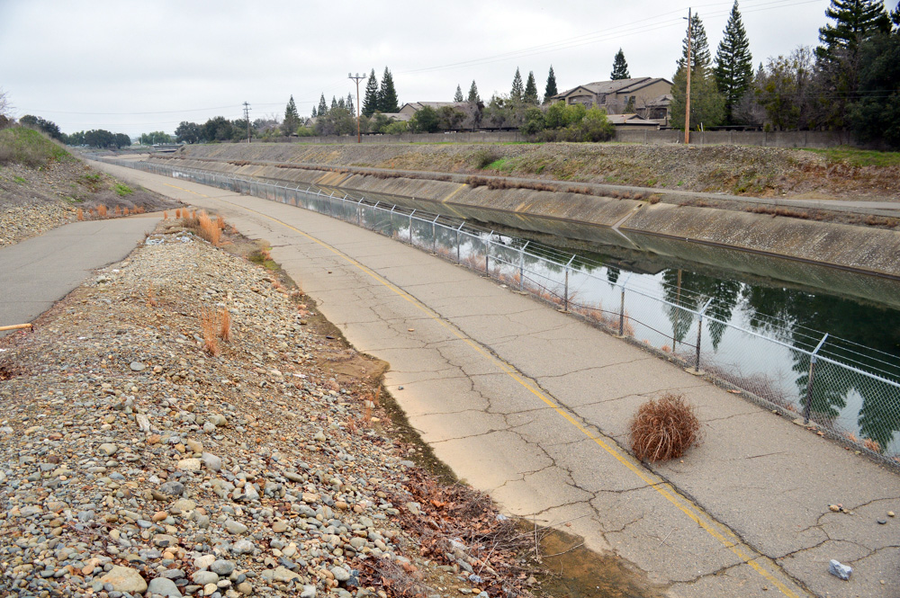 Folsom South Canal and un-modernized trail