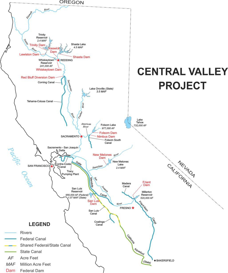 Central Valley Project - Mid-Pacific Region | Bureau of Reclamation