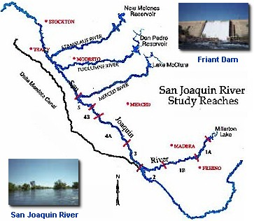 Pictures And Map For The San Joaquin Study Reaches Double Click Anywhere On This Picture