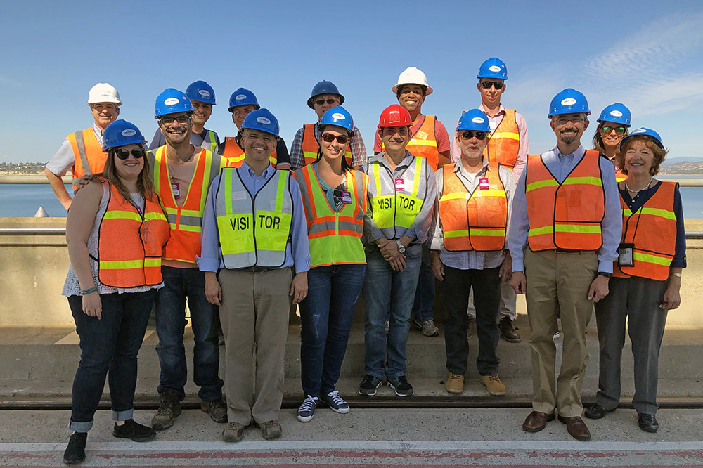 Brazilian delegation of 11 officials from the Ministry of National Integration and the National Water Agency of Brazil tour Folsom Dam Sept. 13, 2018.