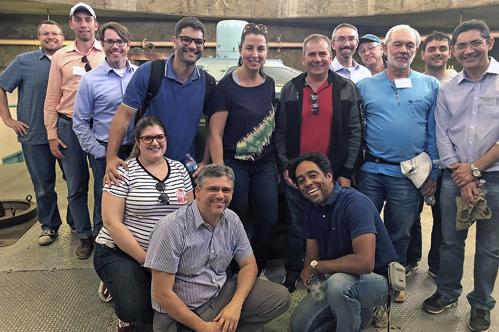 Brazilians tour O'Neill Pumping-Generating Plant.