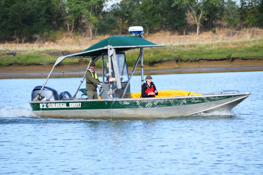 USGS research boat