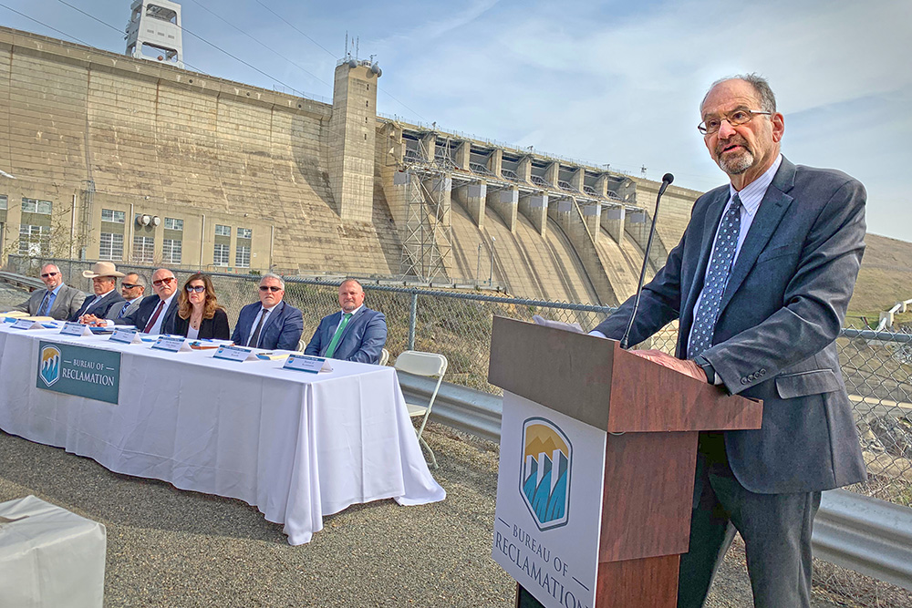Regional Director Ernest Conant at Folsom Dam WIIN Act signing ceremony (Reclamation photo by Fernando Ponce)