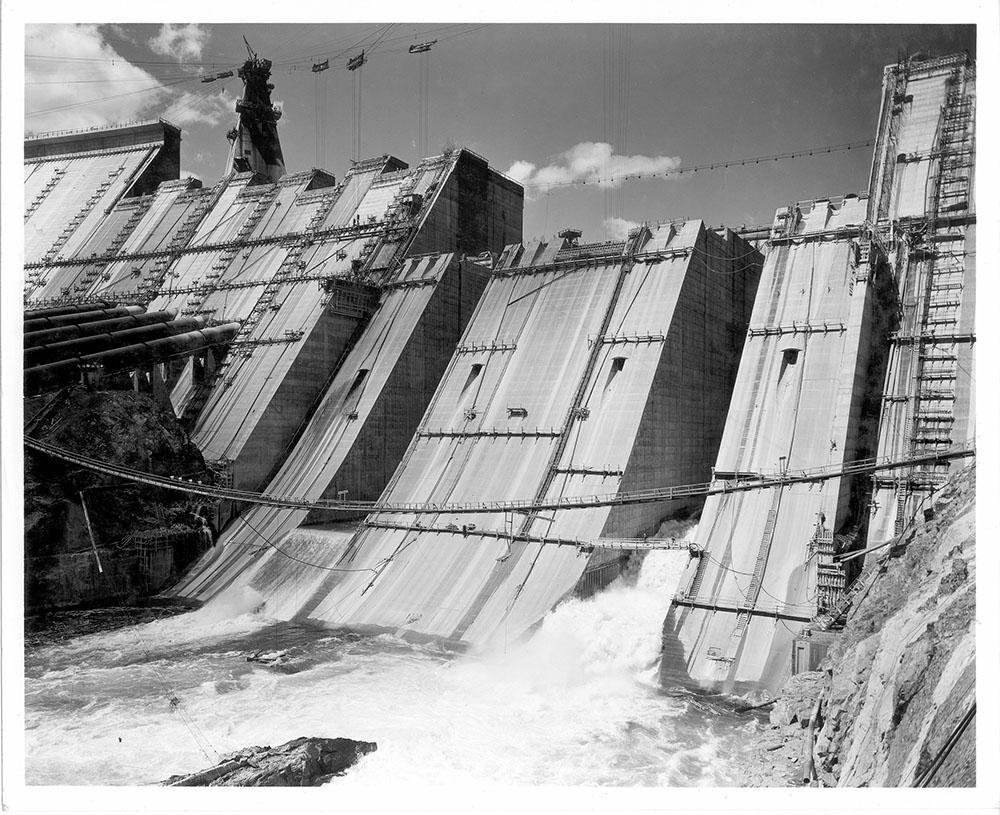 Shasta Dam spillway work