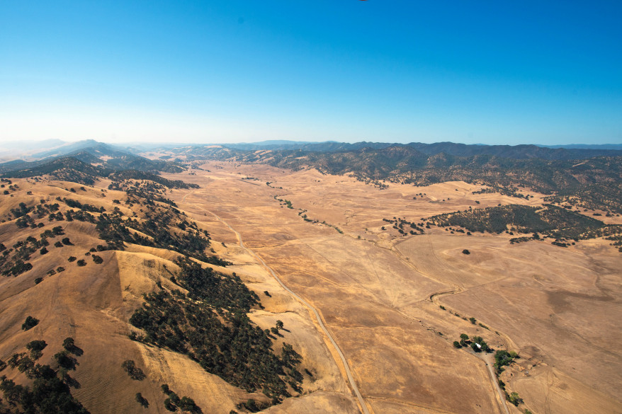 The location for proposed Sites Reservoir (photo by DWR)