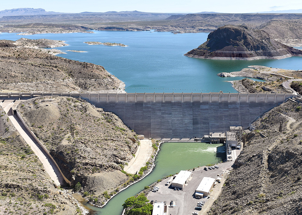 Elephant Butte Dam in New Mexico on the Rio Grande.