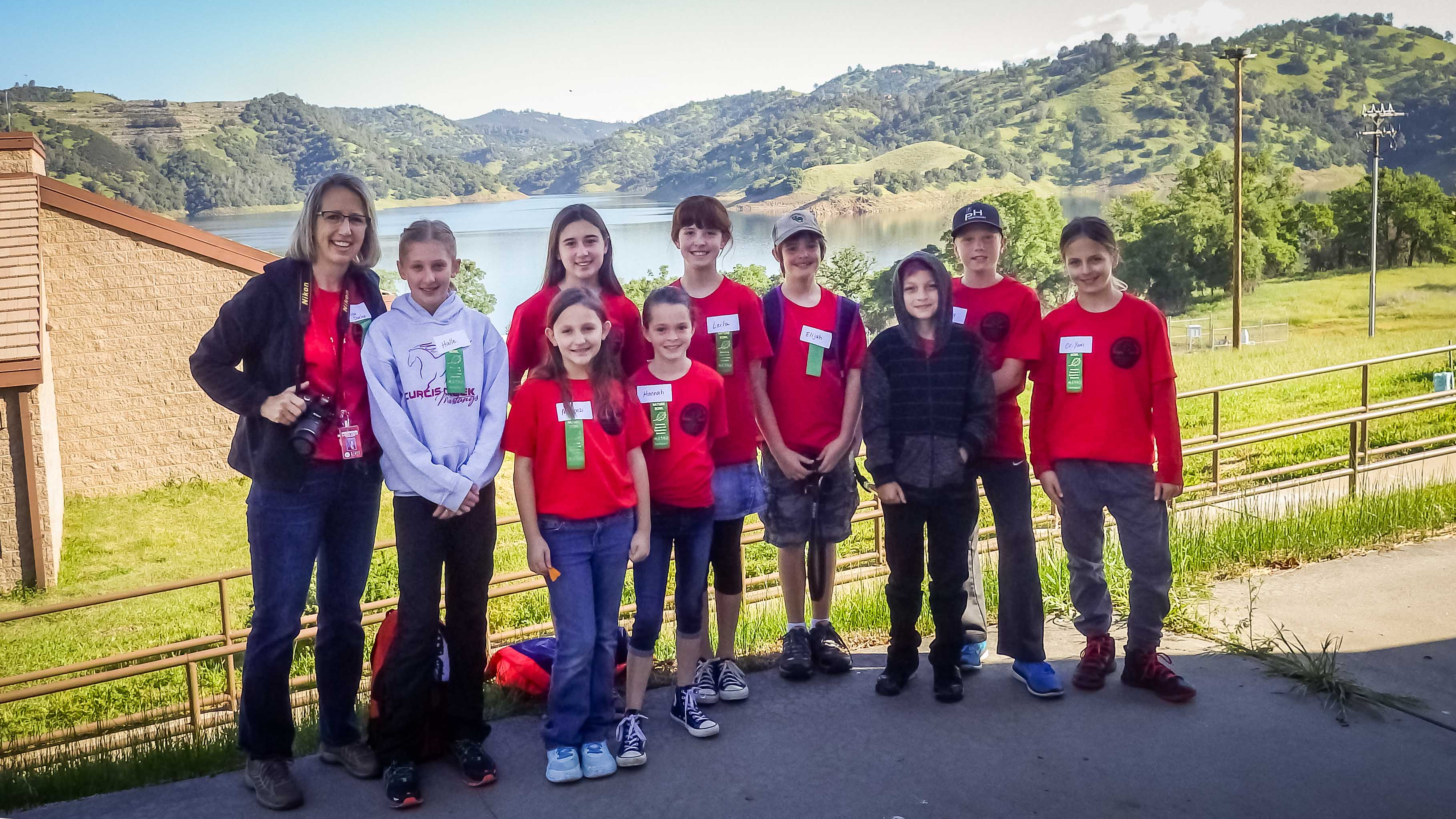 The smiling faces belong to one of fourteen teams competing in Nature Bowl