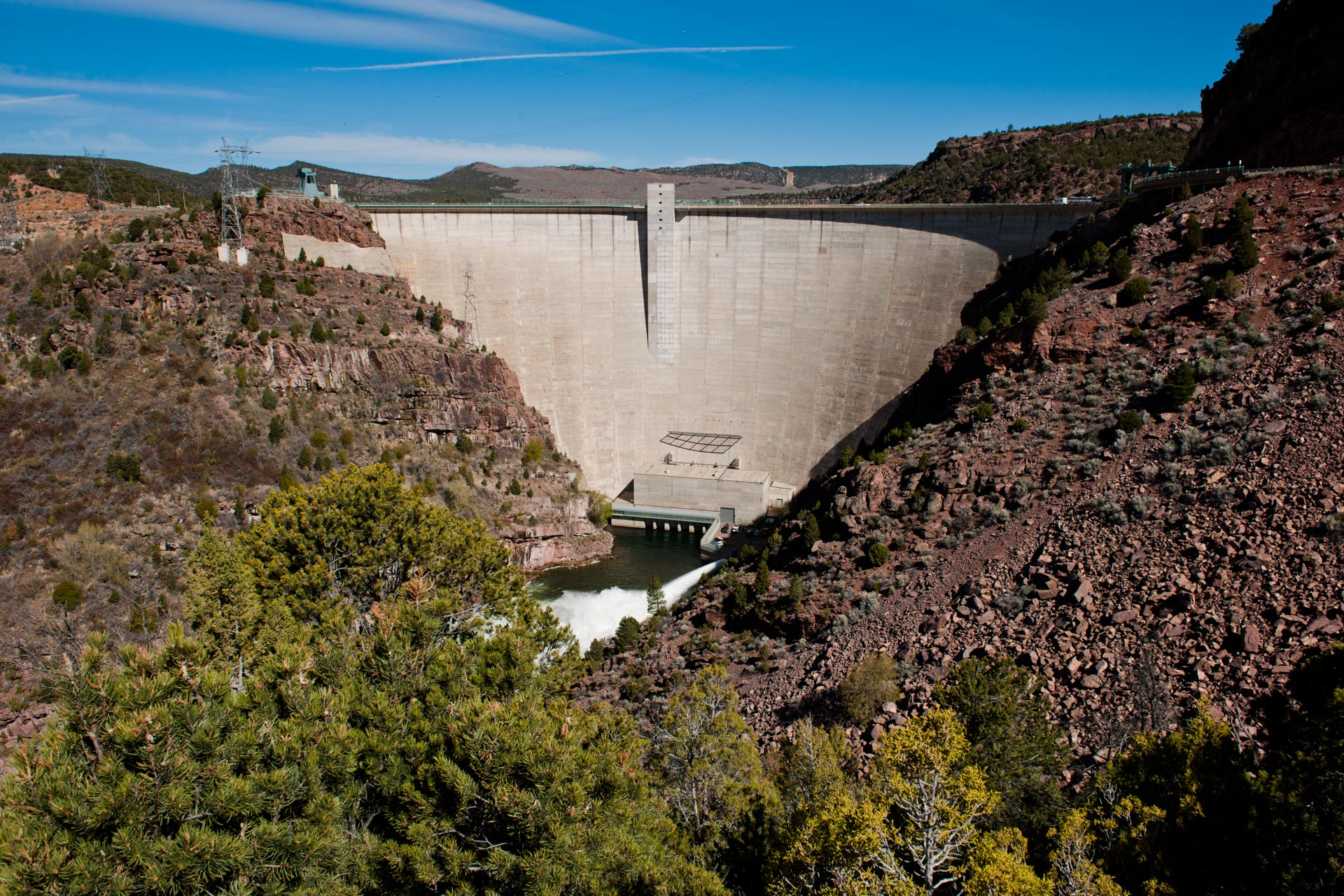 Flaming Gorge Dam in Utah