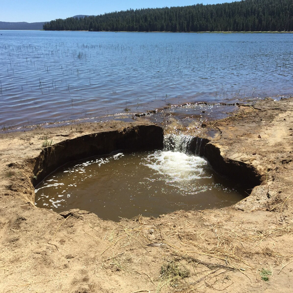 Sinkhole at Wickiup Reservoir