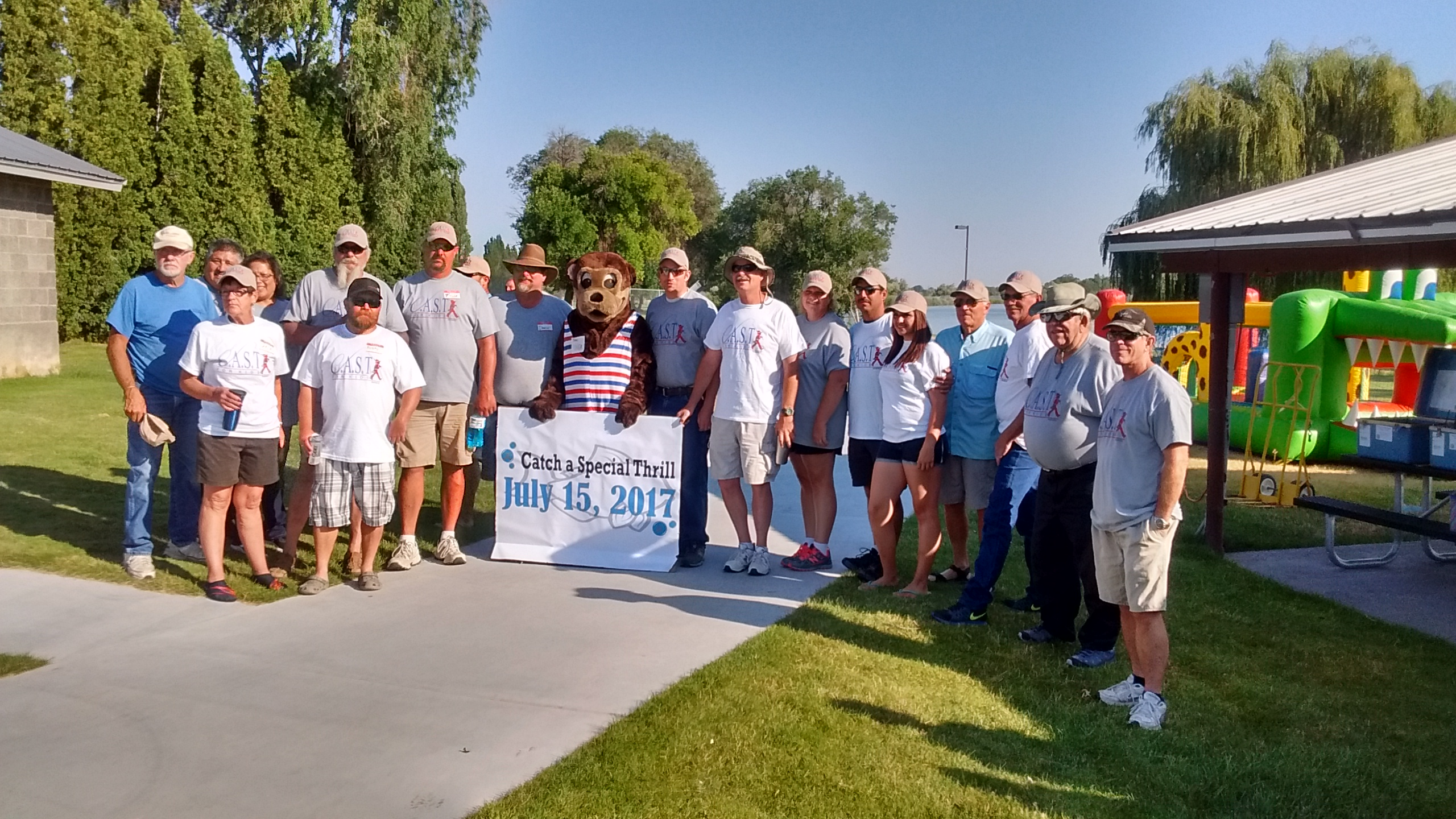 Volunteers at the 2017 Snake River C.A.S.T. for Kids Event