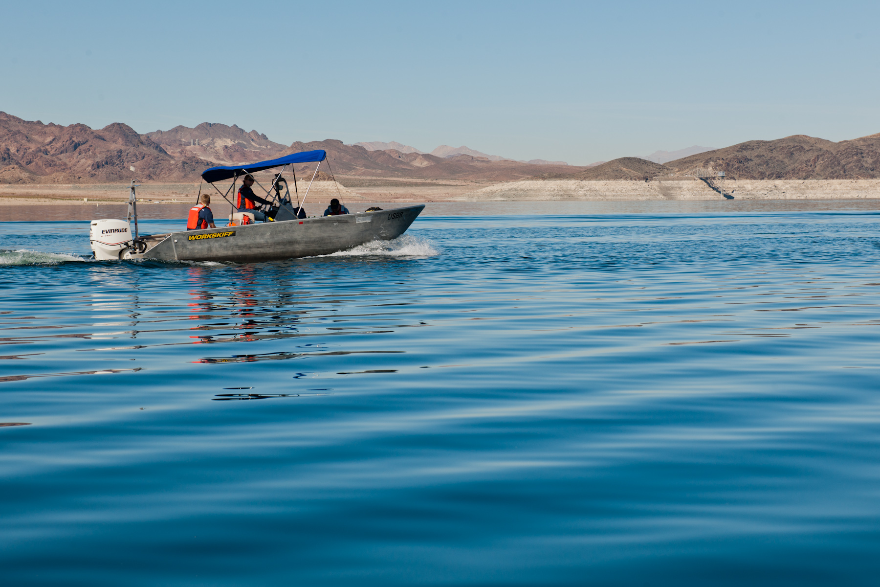 LCR Dive Team staff working at Lake Mead