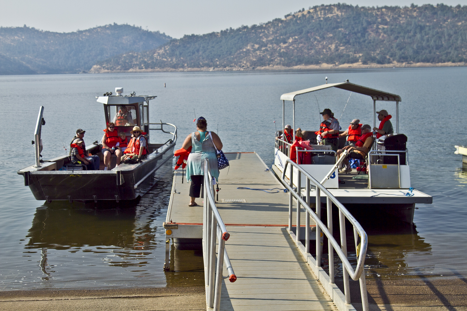 Participants enjoyed spending the day fishing on New Melones Lake, CA.