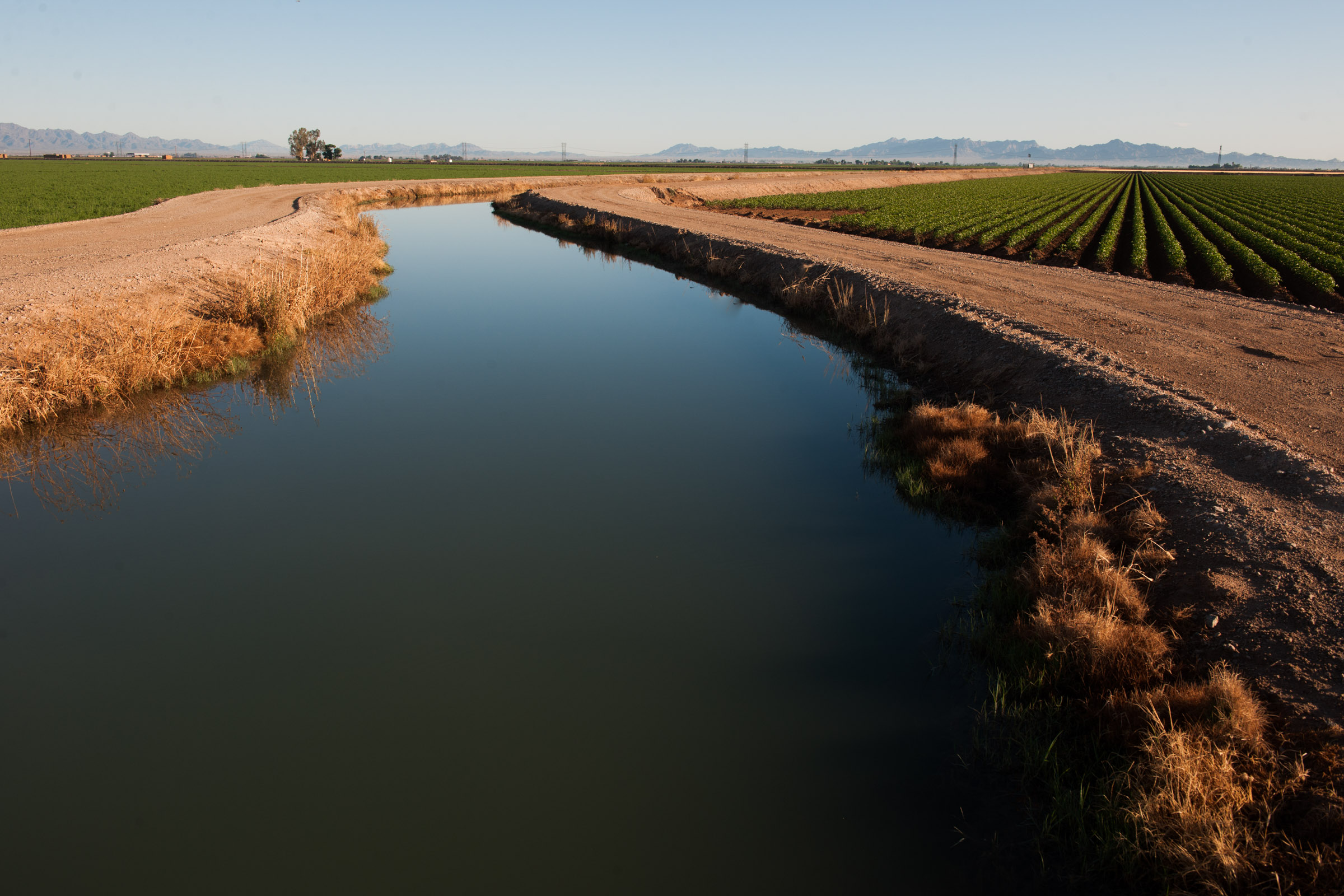 A canal moving water. Canals like this one may be used to move water in a water market.