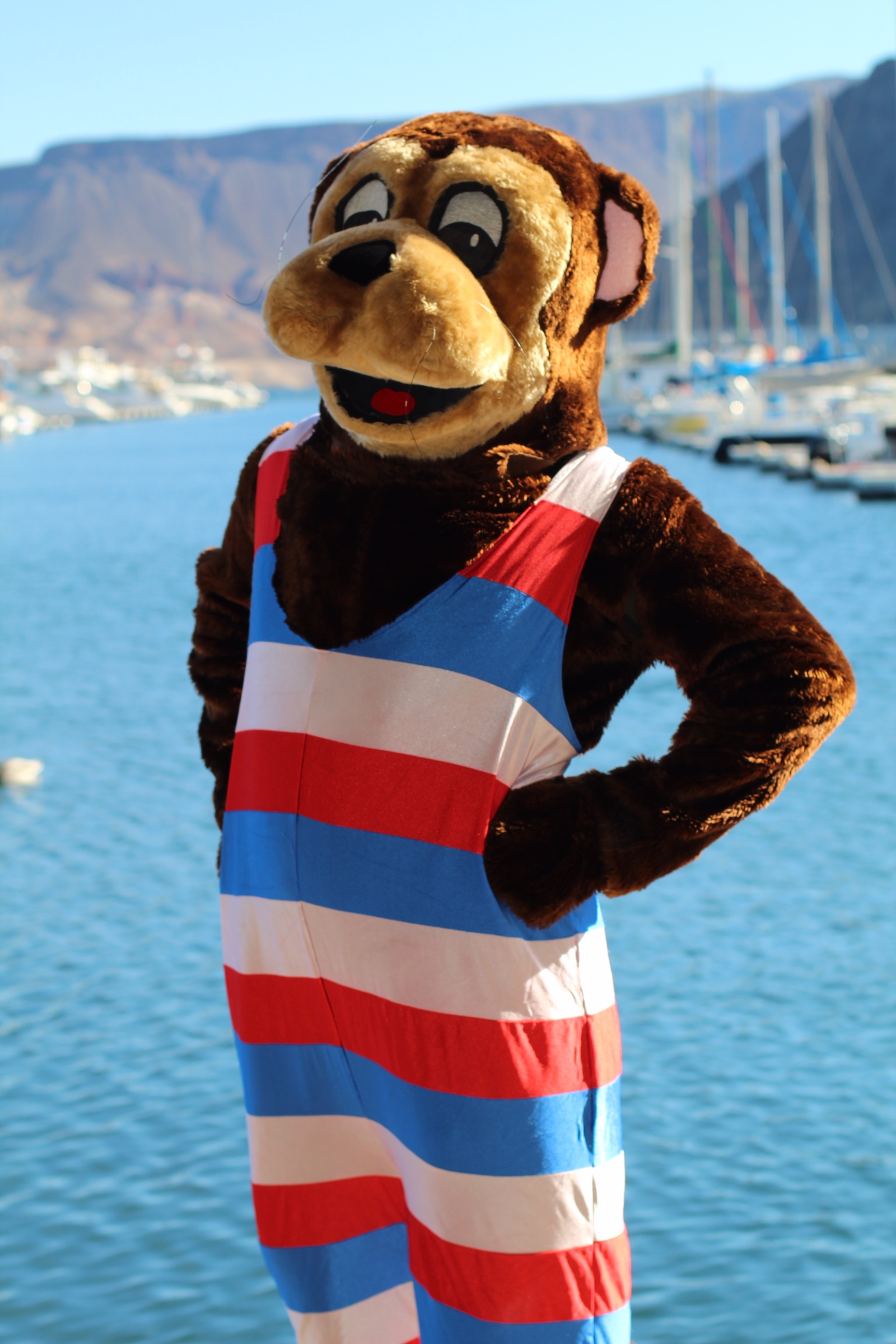 Otto the Otter at the C.A.S.T. for Kids event at Lake Mead