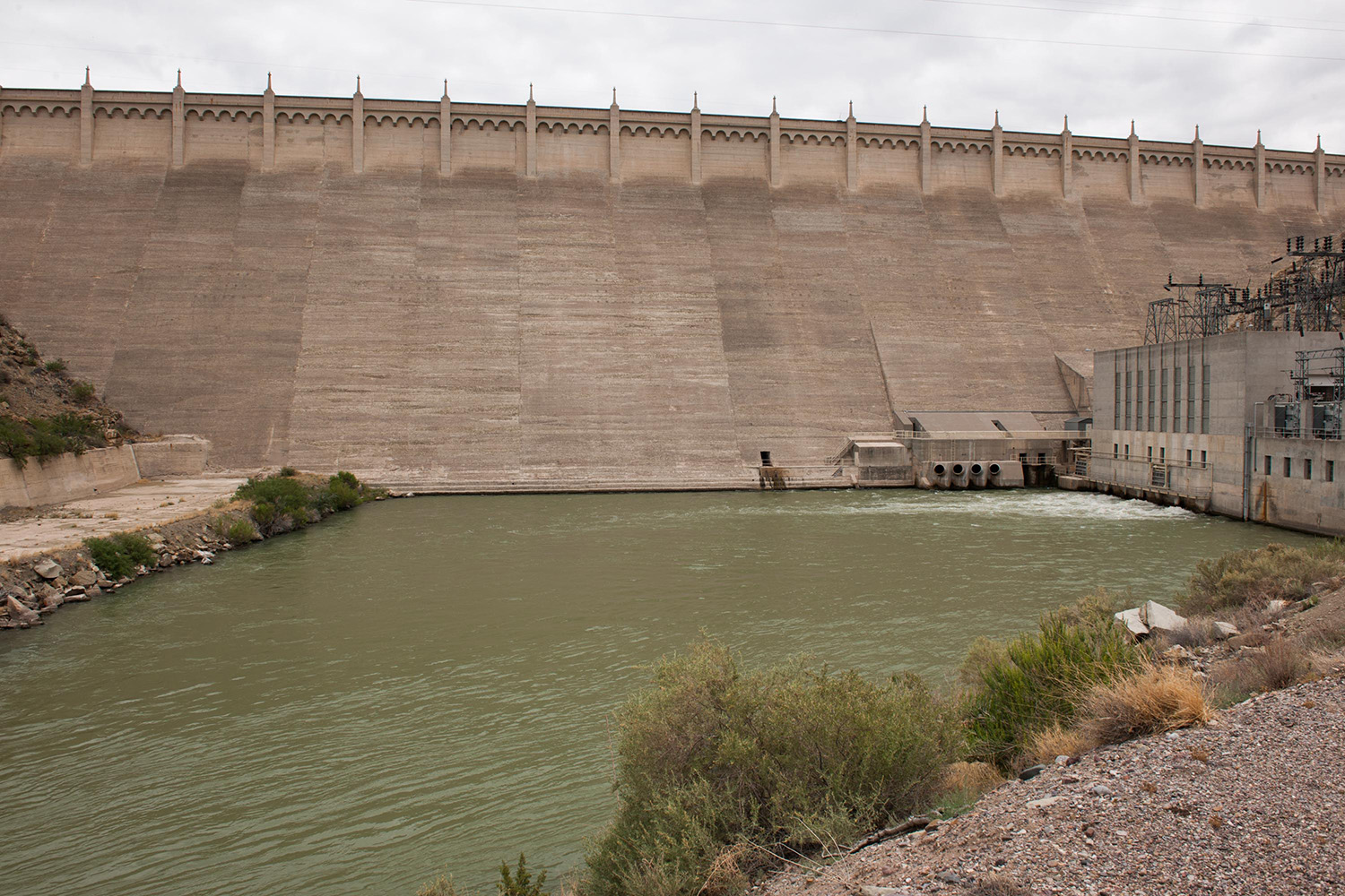 Elephant Butte Dam and the Rio Grande.