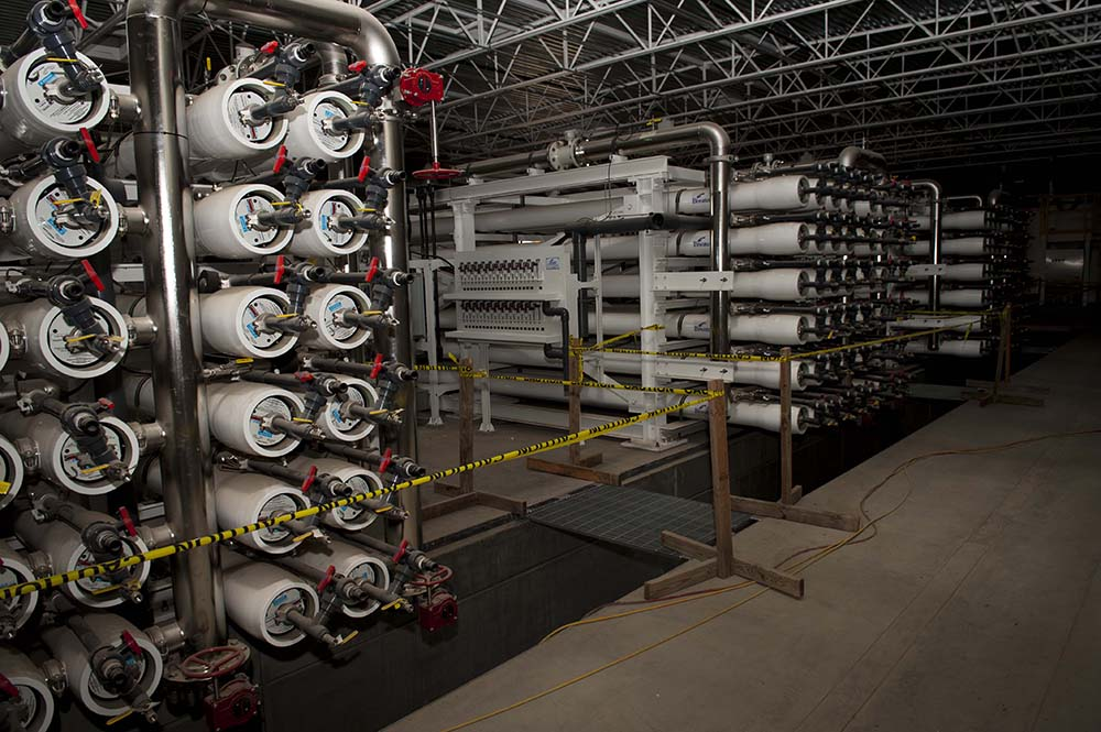 Membrane technology at a water treatment plant.