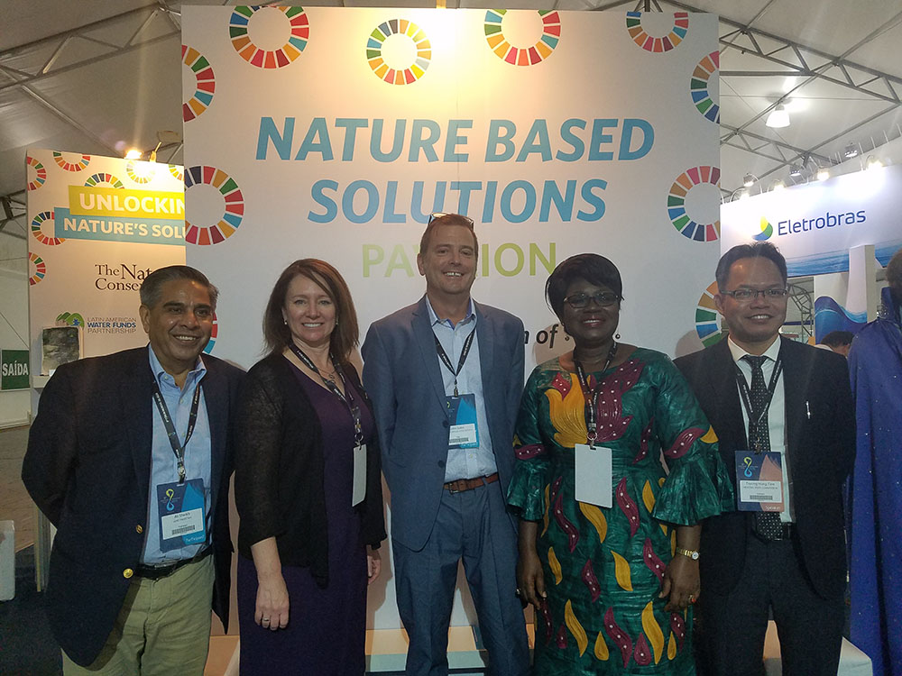 Reclamation Commissioner Brenda Burman (2nd from left) with fellow members of the panel she participated in.