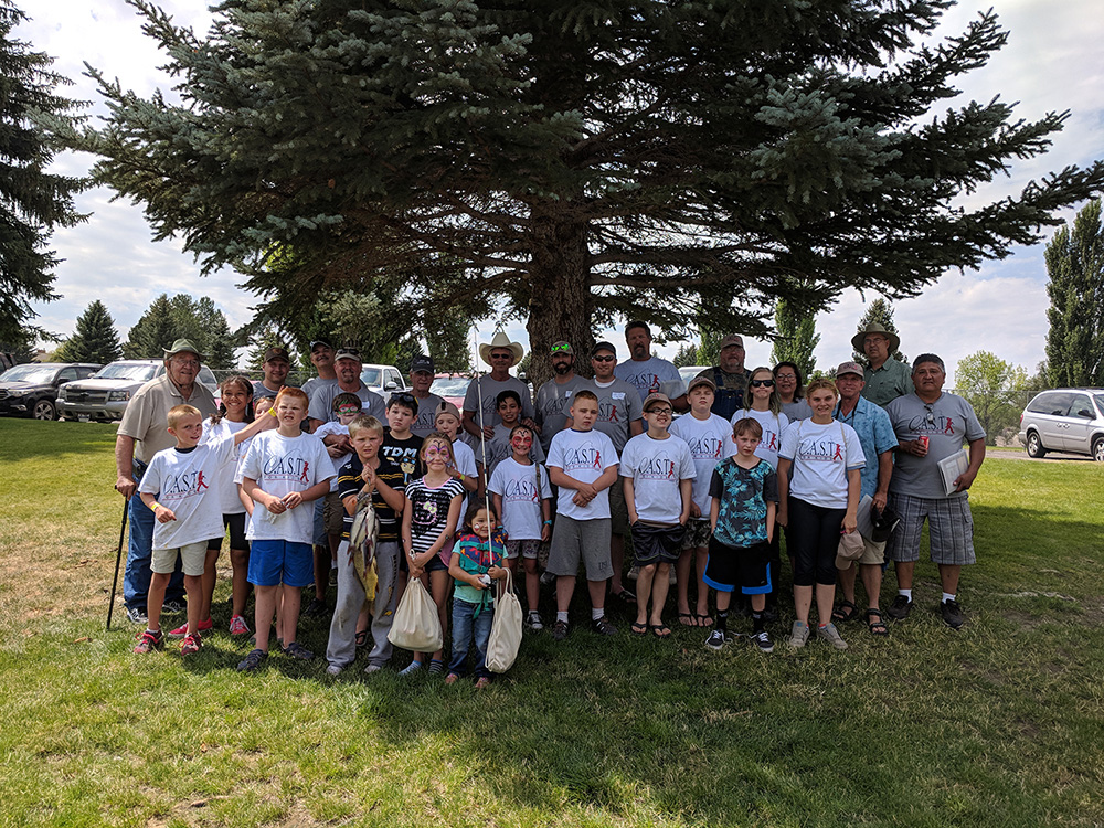 Participants of the 2018 C.A.S.T. for Kids Event at the Burley Boat Docks in Rupert, ID.