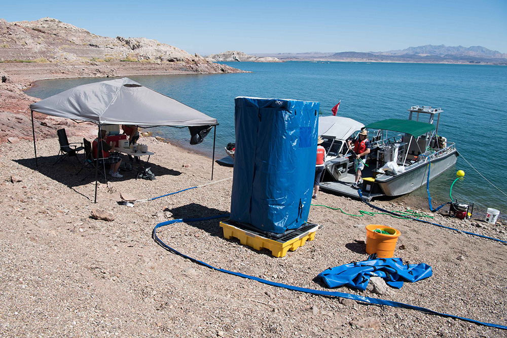 Previously funded research project that studied the effective and safe decontamination for underwater inspection equipment exposed to quagga and zebra mussels.