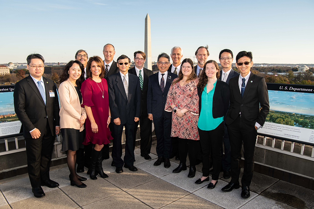 Pictured are participants from Reclamation & the Water Resources Agency Taiwan who participated in the 31st anniversary meeting between the two agencies in D.C.