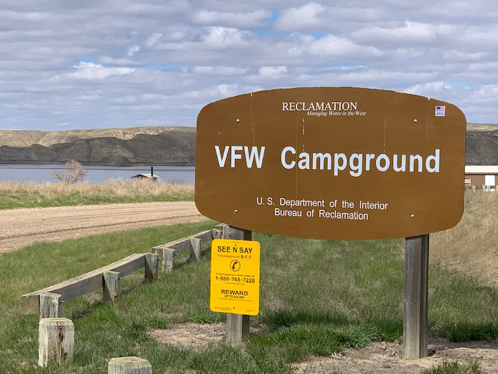 VFW Campground sign.