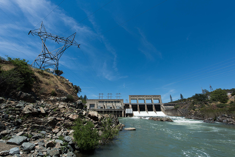 Keswick Dam is located nine miles downstream from Shasta Dam on the Sacramento River. It is one of the 11 powerplants of the Central Valley Project.