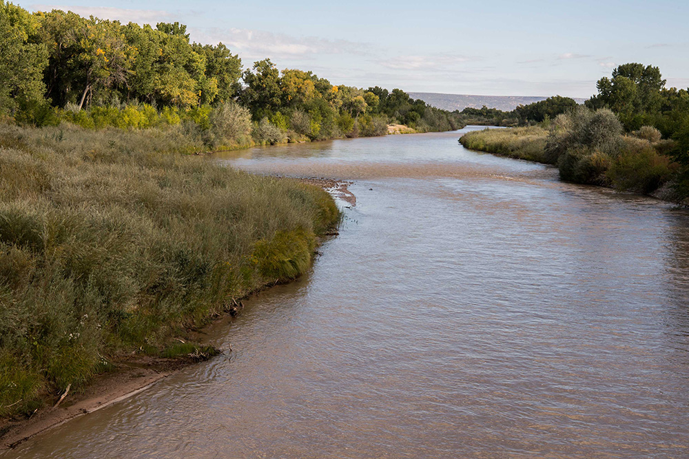 The Rio Grande north of Santa Fe, New Mexico.