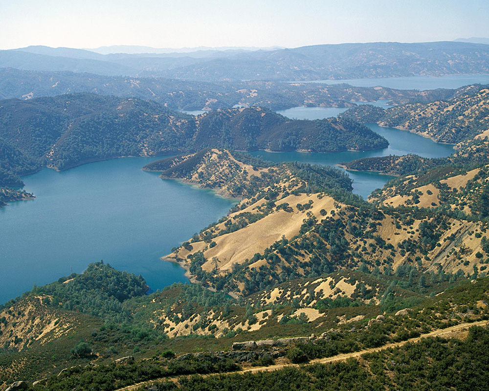 Lake Berryessa from the air.