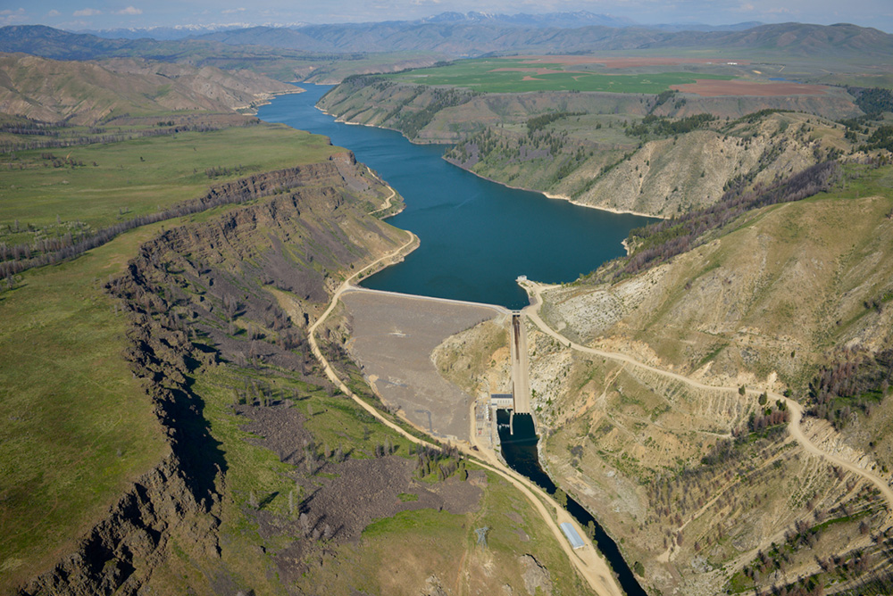 Anderson Ranch Dam on the Boise River.